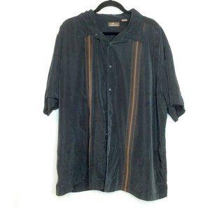 Cafe Luna Black Stripe Short Sleeve Shirt 3XL